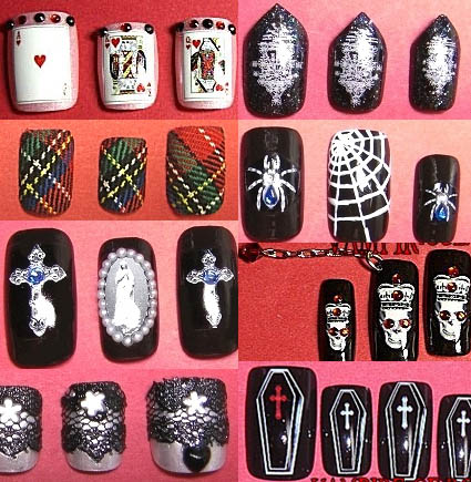 Gothic Lolita Nail Designs By Vampire Of Rose My Pale Face Blog