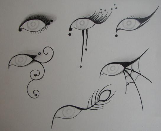 Fashion week Makeup eye Gothic designs for woman